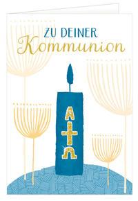 Grußkarte 'Glückwünsche zur Kommunion'