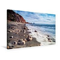 Premium Textil-Leinwand 90 x 60 cm Quer-Format Strand bei Cavo auf der Insel Elba   Wandbild, HD-Bild auf Keilrahmen, Fertigbild auf hochwertigem Vlies, Leinwanddruck von Val Thoermer