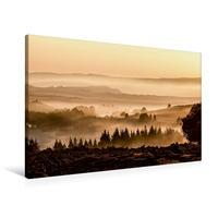 Premium Textil-Leinwand 90 x 60 cm Quer-Format Morgenstimmung   Wandbild, HD-Bild auf Keilrahmen, Fertigbild auf hochwertigem Vlies, Leinwanddruck von Horst Eisele