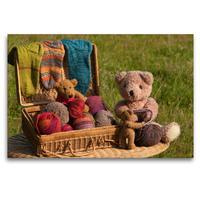 Premium Textil-Leinwand 120 x 80 cm Quer-Format Wollbären   Wandbild, HD-Bild auf Keilrahmen, Fertigbild auf hochwertigem Vlies, Leinwanddruck von Meike Bölts