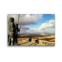 Premium Textil-Leinwand 45 x 30 cm Quer-Format Bronzestatuen Ayose und Guize am Morro Velosa | Wandbild, HD-Bild auf Keilrahmen, Fertigbild auf hochwertigem Vlies, Leinwanddruck von Sabine Löwer
