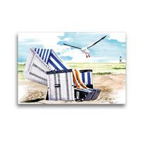 Premium Textil-Leinwand 45 x 30 cm Quer-Format Sonnenbad | Wandbild, HD-Bild auf Keilrahmen, Fertigbild auf hochwertigem Vlies, Leinwanddruck von Madeleine Hartwig / Bilder-Kasten