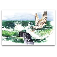 Premium Textil-Leinwand 120 x 80 cm Quer-Format Ostseesturm | Wandbild, HD-Bild auf Keilrahmen, Fertigbild auf hochwertigem Vlies, Leinwanddruck von Madeleine Hartwig / Bilder-Kasten