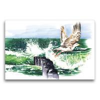 Premium Textil-Leinwand 75 x 50 cm Quer-Format Ostseesturm | Wandbild, HD-Bild auf Keilrahmen, Fertigbild auf hochwertigem Vlies, Leinwanddruck von Madeleine Hartwig / Bilder-Kasten