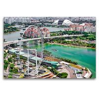 Premium Textil-Leinwand 120 x 80 cm Quer-Format Singapur - Asiatische Lifestyle Metropole | Wandbild, HD-Bild auf Keilrahmen, Fertigbild auf hochwertigem Vlies, Leinwanddruck von Dieter Meyer
