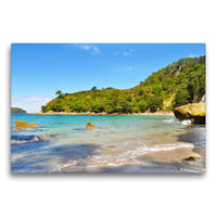 Premium Textil-Leinwand 75 x 50 cm Quer-Format Stingray Beach   Wandbild, HD-Bild auf Keilrahmen, Fertigbild auf hochwertigem Vlies, Leinwanddruck von Nadine Büscher
