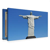 Premium Textil-Leinwand 75 x 50 cm Quer-Format Cristo Redentor   Wandbild, HD-Bild auf Keilrahmen, Fertigbild auf hochwertigem Vlies, Leinwanddruck von Nadine Büscher