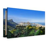 Premium Textil-Leinwand 90 x 60 cm Quer-Format Erlebe mit mir das berauschende Rio de Janeiro   Wandbild, HD-Bild auf Keilrahmen, Fertigbild auf hochwertigem Vlies, Leinwanddruck von Nadine Büscher