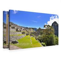Premium Textil-Leinwand 75 x 50 cm Quer-Format Erlebe mit mir das Inkareich Machu Picchu   Wandbild, HD-Bild auf Keilrahmen, Fertigbild auf hochwertigem Vlies, Leinwanddruck von Nadine Büscher