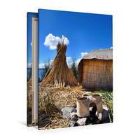 Premium Textil-Leinwand 80 x 120 cm Hoch-Format Erlebe mit mir den Titicacasee   Wandbild, HD-Bild auf Keilrahmen, Fertigbild auf hochwertigem Vlies, Leinwanddruck von Nadine Büscher