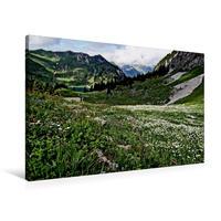 Premium Textil-Leinwand 90 x 60 cm Quer-Format Alpsommer Oberstockenalp   Wandbild, HD-Bild auf Keilrahmen, Fertigbild auf hochwertigem Vlies, Leinwanddruck von Susan Michel / CH