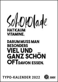 Sprüche-Kalender 2022 – Typo-Kalender von FUNI SMART ART – Poster-Format 50 x 70 cm
