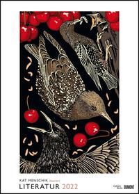 Kat Menschik illustriert Literatur – Literarischer Posterkalender in Bildern 2022 – Wand-Kalender von DUMONT – Format 50 x 70 cm