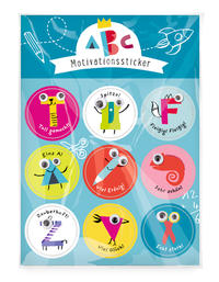 Schulanfang Motivationssticker 'ABC'