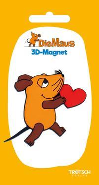 Die Maus 3D-Magnet Maus mit Herz