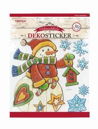 Weihnachtlicher Dekosticker in Holzoptik
