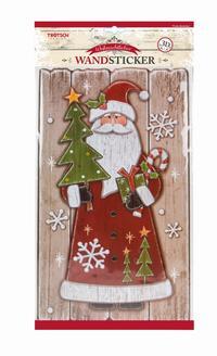 Weihnachtlicher Wandsticker in Holzoptik 3D