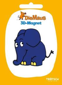 Die Maus 3D-Magnet Elefant stehend