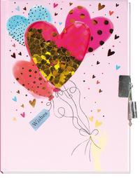 Tagebuch mit Pailletten Herz