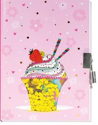 Tagebuch mit Pailletten Herz Eiscreme