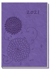 Taschenkalender A7 Soft Touch Blumen 2021