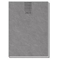 Taschenkalender Soft Touch A6 Anthrazit 2021