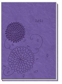Taschenkalender Soft Touch A6 Blumen 2021