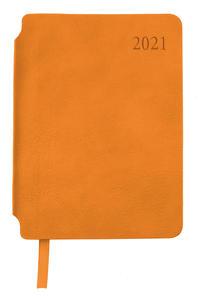 Taschenkalender A6 Orange 2021