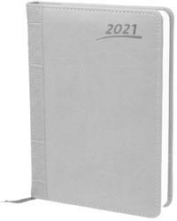 Buchkalender A5 2021 Grau