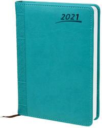 Buchkalender 2021 A5 Aqua