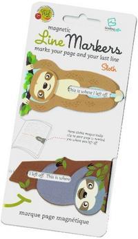 Line Markers Sloth/Faultier - Magnetische Lesezeichen