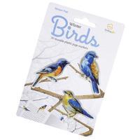 Lesezeichen - Stikki Marks Winter Birds