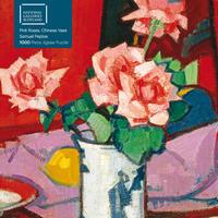 Puzzle - Samuel Peploe, Pinkfarbene Rosen in einer chinesischen Vase