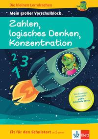 Klett Die kleinen Lerndrachen: Fit für den Schulstart: Mein großer Vorschulblock Zahlen, logisches Denken, Konzentration