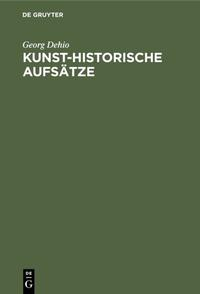Kunst-historische Aufsätze