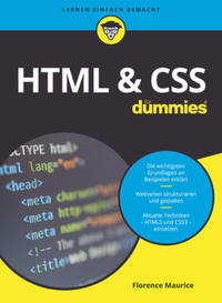 Cover: Florence Maurice HTML & CSS für Dummies