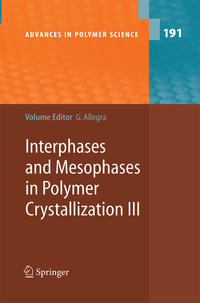 Interphases and Mesophases in Polymer Crystallization III