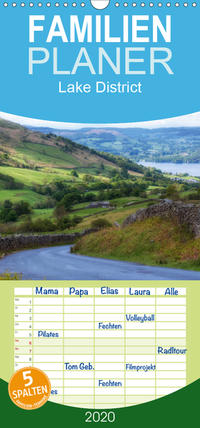 Lake District England - Familienplaner hoch (Wandkalender 2020 , 21 cm x 45 cm, hoch)