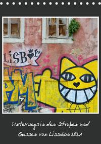 In den Straßen und Gassen von Lissabon 2021 (Tischkalender 2021 DIN A5 hoch)