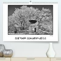 RHÖN SCHWARZ-WEISS (Premium, hochwertiger DIN A2 Wandkalender 2021, Kunstdruck in Hochglanz)