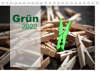 Grün / Geburtstagskalender / Terminplaner (Tischkalender 2022 DIN A5 quer)