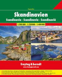 Skandinavien Superatlas, Autoatlas 1:200.000/1:250.000/1:400.000
