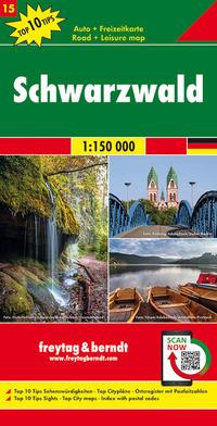 Schwarzwald, Autokarte 1:150.000, Top 10 Tips, Blatt 15