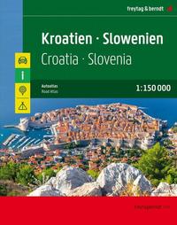 Kroatien - Slowenien, Autoatlas 1:150.000