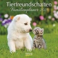 Tierfreundschaften - Familienplaner 2021