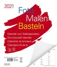 Foto-Malen-Basteln Bastelkalender weiß Notice groß 2021