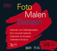 Foto-Malen-Basteln Bastelkalender quer schwarz 2021