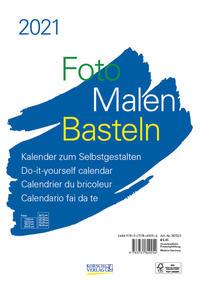 Foto-Malen-Basteln Bastelkalender A4 weiß 2021