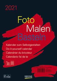 Foto-Malen-Basteln Bastelkalender A4 schwarz 2021