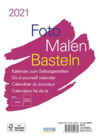 Foto-Malen-Basteln Bastelkalender A5 weiß 2021